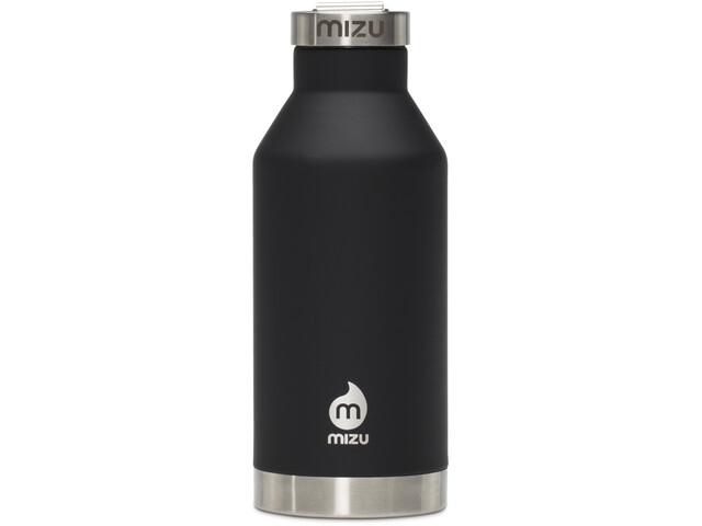 MIZU V6 Borraccia isolante con tappo in acciaio inox 600ml, nero